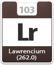 Lawrencium Atomic Number