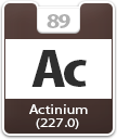 Actinium Atomic Number